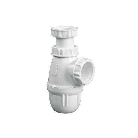 Siphon abs blanc pour lavabo bidet comparer les prix de for Lavabo plastique pour garage