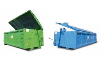 Couverture des caissons avec toit à battant unique