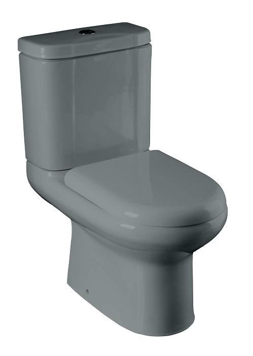 Pack wc poser car n gris acero sortie horizontale Wc a poser sortie horizontale