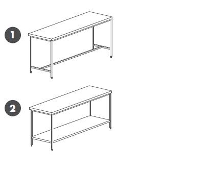 Table Inox Centrale Toutes Dimensions De 400 A 3000 Mm De Long