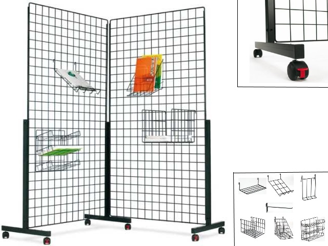 cloison grille d 39 affichage autoporteuse ps880 pour exposition. Black Bedroom Furniture Sets. Home Design Ideas