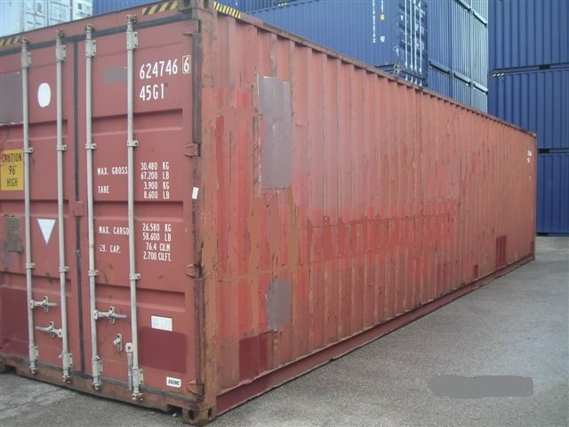 Conteneur 40 high cube occasion for Cout container maritime