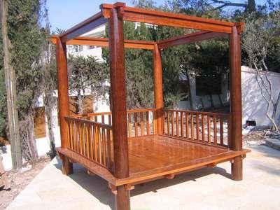 Lit de jardin kho samui - référence : ljks-2.5x2.5-ph50-ta