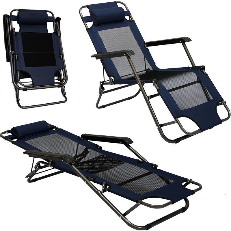 chaise longue pliable pour camping et jardin