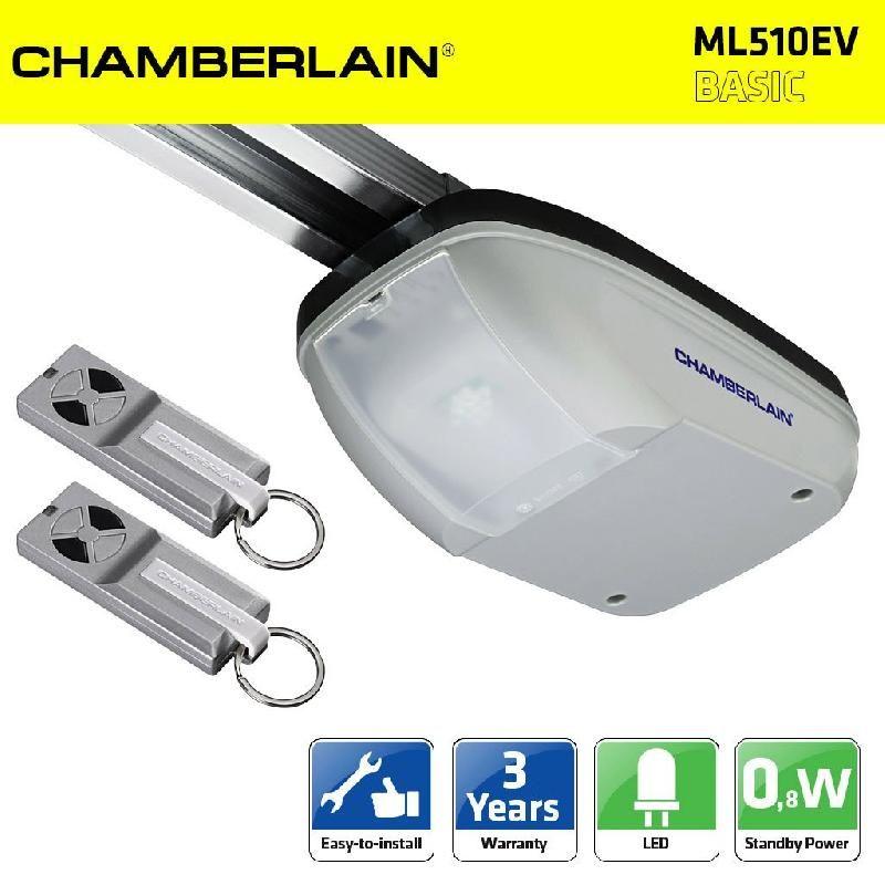 CHAMBERLAIN ML510EV 500N KIT MOTORISATION PORTE DE GARAGE + RAIL