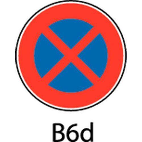 panneau de signalisation b6d arr t et stationnement interdits comparer les prix de panneau. Black Bedroom Furniture Sets. Home Design Ideas