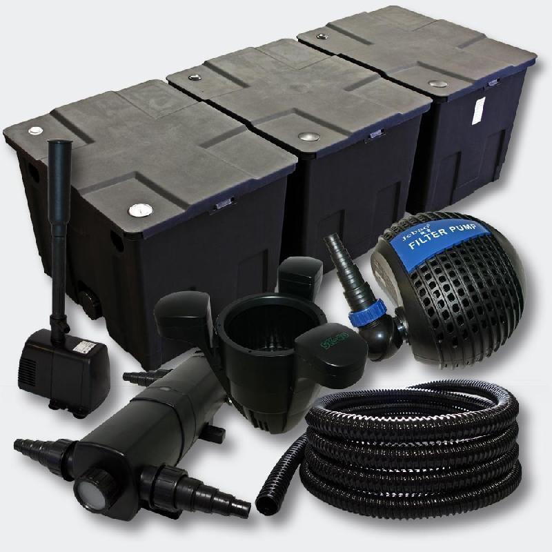 Kit:filtration de bassin 90000l stérilisateur pompe skimmer fontaine 4216469
