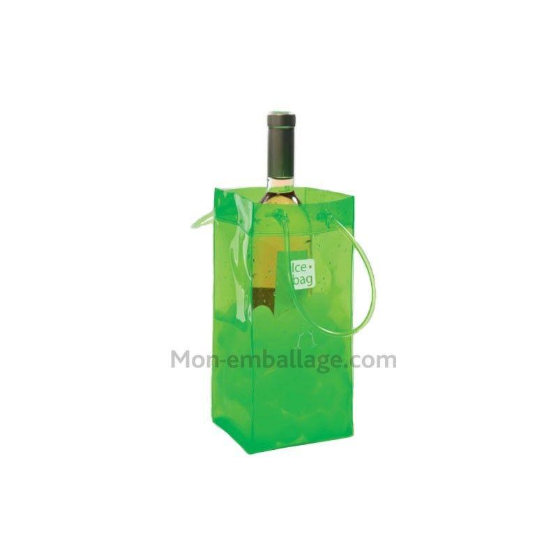 sac a glacons ice bag vert acide 11 x 11 x 26 cm a l 39 unite gim17409. Black Bedroom Furniture Sets. Home Design Ideas