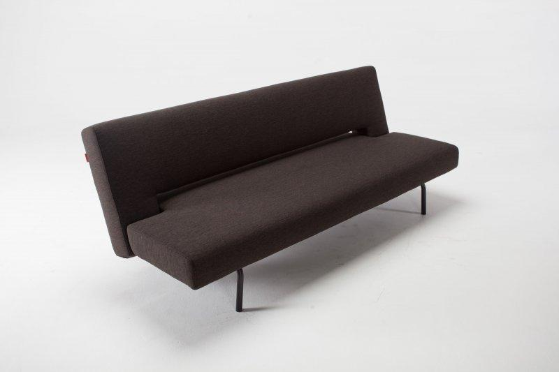 canape lit design isley marron convertible 110 200. Black Bedroom Furniture Sets. Home Design Ideas