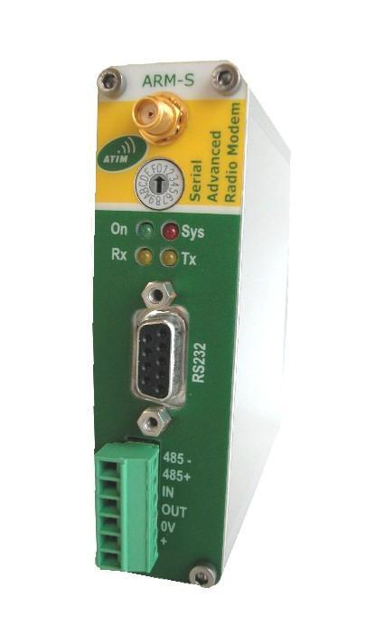 MODEM RADIO RS232 / RS485 + 1ENTRéE ET 1 SORTIE TOR - ARM-S