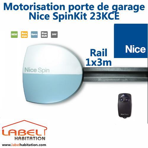 Motorisation porte de garage nice spin23kce comparer les for Motorisation sommer porte de garage