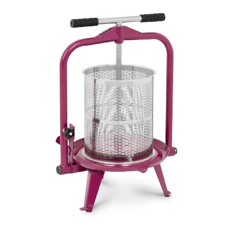 Pressoir de table hydraulique extracteur de jus mécanique à vis inox presse à fruit pomme jus vin raisin 14 litres 14_0003145