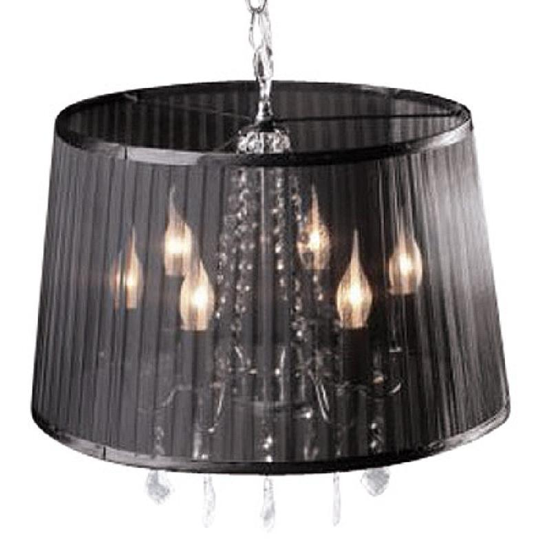 suspension chandelier baroque 39 kosy 39 noire pampilles comparer les prix de suspension. Black Bedroom Furniture Sets. Home Design Ideas