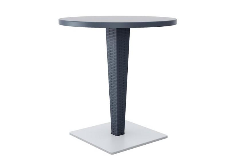 Table de jardin plastique tresse table de jardin rotin for Table de jardin tresse