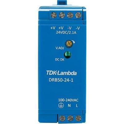 ALIMENTATION RAIL DIN TDK-LAMBDA DRB-50-24-1 28 V/DC 2.1 A 50.4 W 1 X