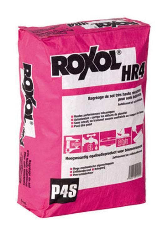 ENDUIT RAGRAGE SOL P4S ROXOL HR4 - 25 KG - SADER