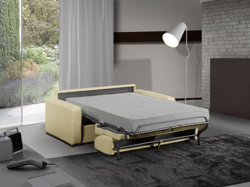 canape lit 3 places master convertible ouverture rapido 140 cm cuir eco beige matelas 18 cm inclus. Black Bedroom Furniture Sets. Home Design Ideas