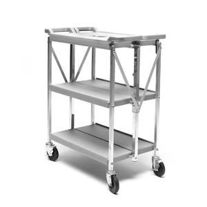 chariot de service pliable materiau plastique pe hd aluminium 750 mm x 400 mm. Black Bedroom Furniture Sets. Home Design Ideas