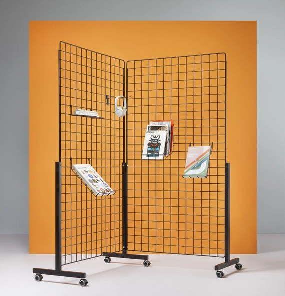 cloison grille d 39 affichage autoporteuse ps880 pour exposition qualidesk. Black Bedroom Furniture Sets. Home Design Ideas