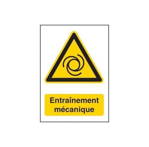 Entraînement mécanique 148 x 210 mm  adhésif  - sticker - panneaux dangers