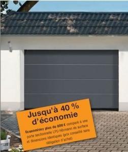 Portes de garage sectionnelles tous les fournisseurs for Porte de garage sectionnelle hormann renomatic