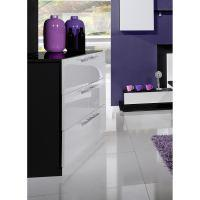 Scoop commode 6 tiroirs laquee noir et blanc - Commode laquee blanc 6 tiroirs ...