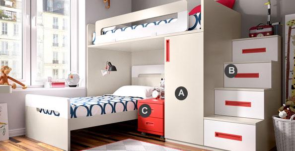 lit pour enfant mezzanines ado ludo. Black Bedroom Furniture Sets. Home Design Ideas