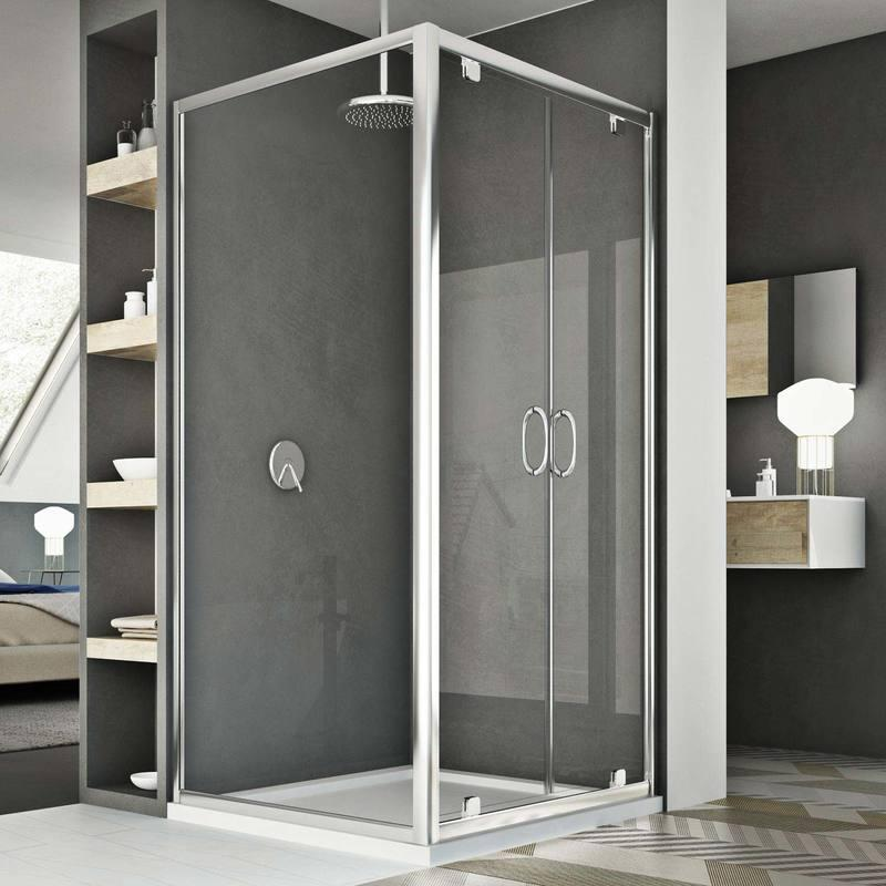 cabine douche 70x80 ap 80 cm h185 trasparent mod le sintesi duo 2 portillons idralite. Black Bedroom Furniture Sets. Home Design Ideas