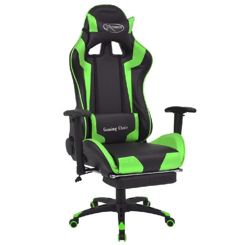 Fauteuil chaise chaise de bureau inclinable avec repose-pied vert 0502042