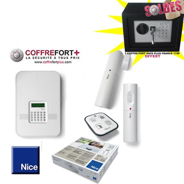 Alarme maison rtc et gsm nice hs kit 1gwfr comparer les prix de alarme mais - Prix kit alarme verisure maison ...