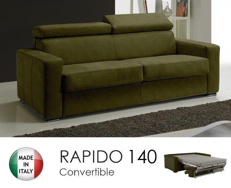 canape rapido sidney tweed cross coloris vert kaki matelas 14 cm couchage quotidien 140 cm. Black Bedroom Furniture Sets. Home Design Ideas