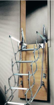 Escaliers escamotables tous les fournisseurs escalier for Table repliable sur mur