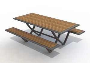 Adzeo sas produits de la categorie tables publiques metalliques - Plan de table de pique nique ...