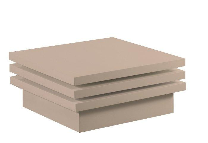 Moove Table Basse Modulable Carree Laque Taupe