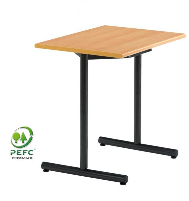 Table double de 140x60cm espace for Bureau 80x60