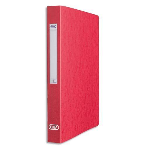 classeur 2 anneaux elba en carte lustr e 7 10e 2 anneaux de 25 mm rouge comparer les prix de. Black Bedroom Furniture Sets. Home Design Ideas