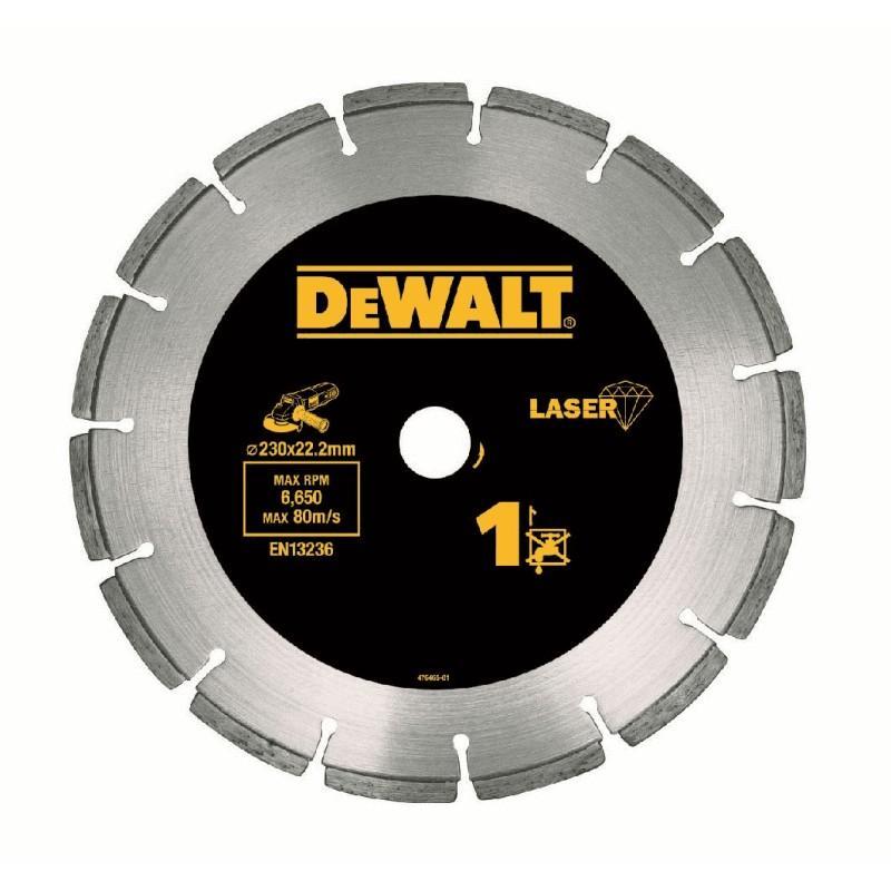 Dewalt dt3743-xj disque laser pour matériaux de construction/béton 230x22.2mm, hauteur segment 8.5mm 22.2