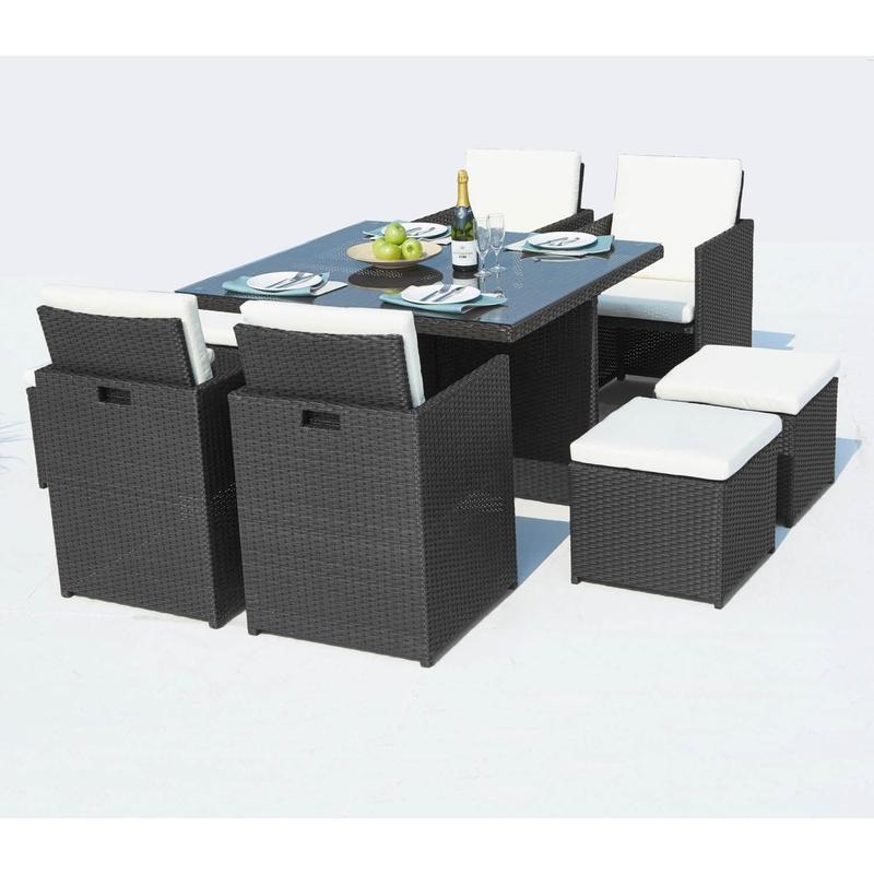 KAJANG : SALON DE JARDIN TECK MASSIF 6 PERSONNES - TABLE OVALE + 4 ...