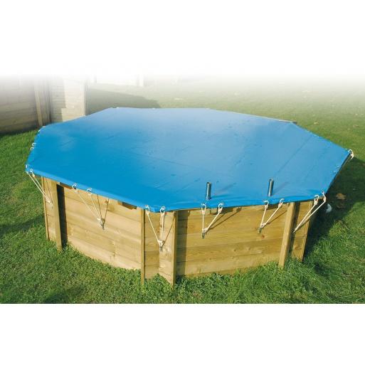 bache piscine bache d 39 hivernage pour piscine ubbink o 410 cm ubbink. Black Bedroom Furniture Sets. Home Design Ideas