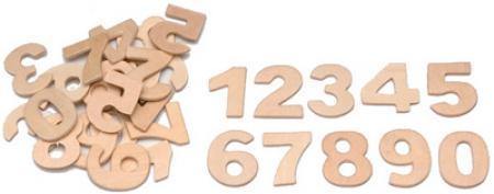 6.1627.002 - SET DE 30 CHIFFRES, EN BOIS, HAUTEUR 25 MM