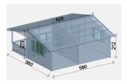 Chalet de jardin 34 33 m2 for Chalets de jardins