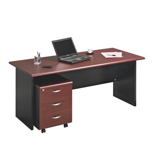 Bureaux avec caissons comparez les prix pour for Bureau 140 cm