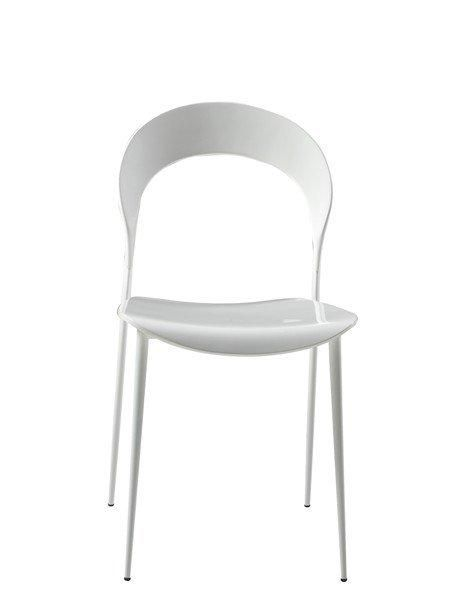 lot de 4 chaises design arcadia blanches. Black Bedroom Furniture Sets. Home Design Ideas