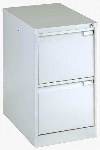 classeur monobloc 2 tiroirs pour dossiers suspendus aluminium