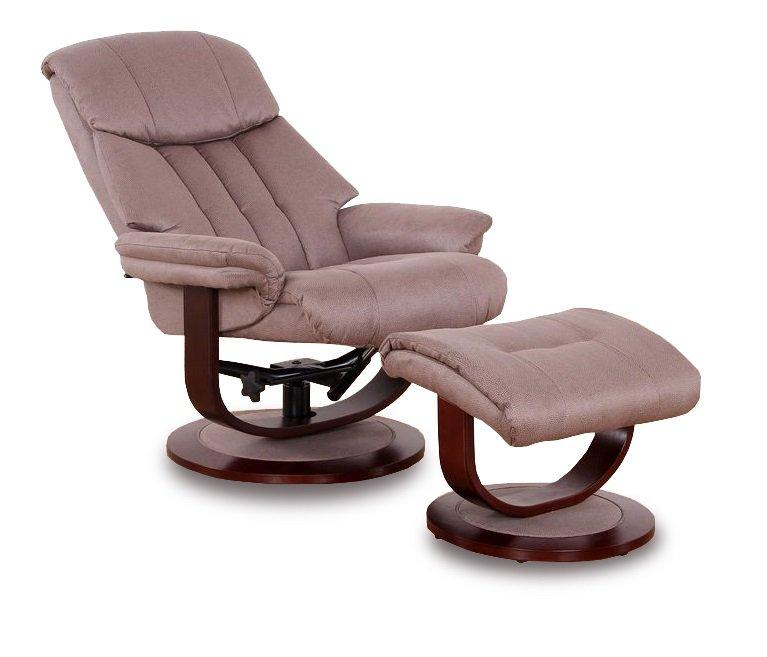 affinity fauteuil relax avec repose pieds microfibre boa marron cendre. Black Bedroom Furniture Sets. Home Design Ideas