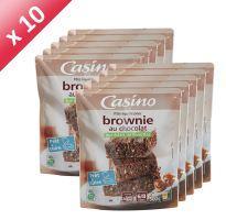 CASINO CASINO BROWNIE CHOCOLAT 500G (X10)