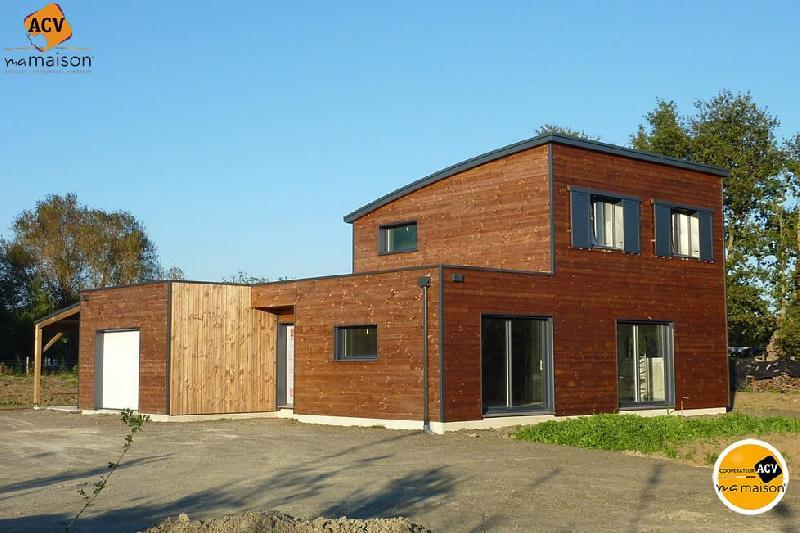 Maison a etage en bois for Etage en bois