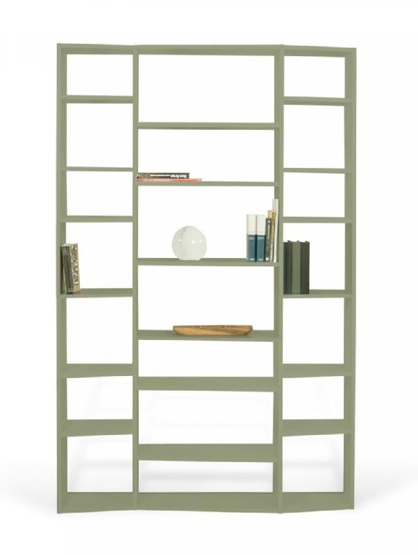 temahome buddy 21 casiers bibliotheque etagere design laquee gris mat. Black Bedroom Furniture Sets. Home Design Ideas