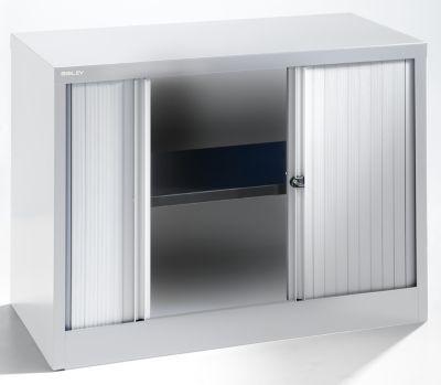 bisley armoire rideaux horizontal hauteur 711 mm aluminium gris clair comparer les prix. Black Bedroom Furniture Sets. Home Design Ideas