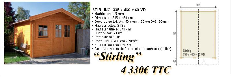 Chalet en bois stirling for Fenetre 80x160
